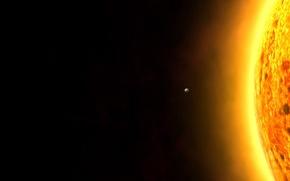 Picture black, planet, The sun