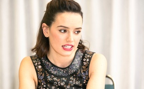 Picture Star wars, 2015, press conference, Daisy Ridley, Daisy Ridley