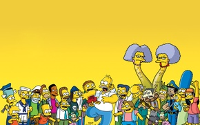 Picture the simpsons, the series, cartoon