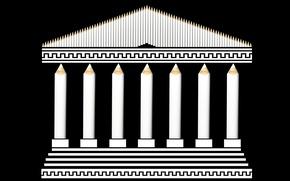 Picture background, pencils, Acropolis