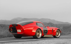 Wallpaper Shelby, Coupe, Cobra, Daytona, Shelby Cobra Daytona Coupe, 1964-1965, Red car