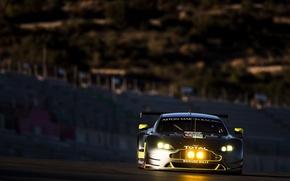 Picture Aston Martin, Lights, Aston Martin, The front