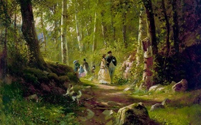 Picture picture, Shishkin, In the woods