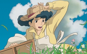 Picture Hayao Miyazaki, Ghibli, Naoko Satomi, The wind grows stronger