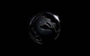 Wallpaper dragon, mortal Kombat, logo, mortal kombat x