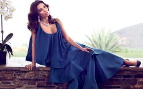 Picture pose, dress, actress, Eva Longoria, Eva Longoria