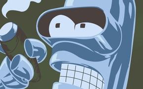 Picture smoke, cigarette, Bender, Futurama, Futurama, Smoke, Bender, Bender Bending Rodriguez, Cigarette, Bender bending Rodriguez, bending …