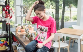 Picture girl, face, smile, style, hair