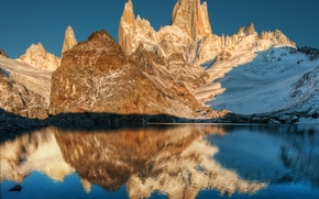 Picture lake, reflection, mountains