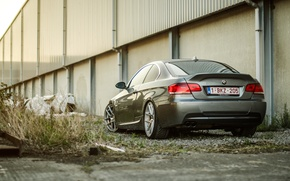 Picture BMW, BMW, silver, wheels, silver, rear, E92