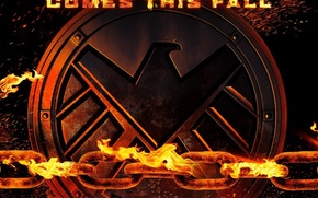 Picture demon, fire, flame, logo, Ghost Rider, spy, Marvel, eagle, series, supernatural, falcon, chain, S. H. …