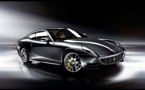 Wallpaper Staglietti, sports car, One to One, Ferrari, black