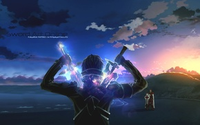 Wallpaper Sword art Online, Kirito, SAO