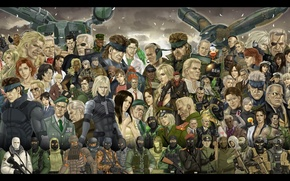 Picture wallpaper, art, Solid Snake, Metal Gear Solid, Raiden, Jack the Ripper, Naked Snake, The Boss, …