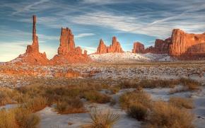 Picture snow, utah, arizona, monument valley, navajo tribal park