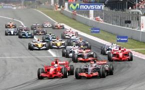 Picture McLaren, Ferrari, Mercedes