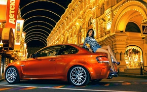 Picture street, orange, BMW, brunette, nfs, most wanted, smotra, 1M Coupe