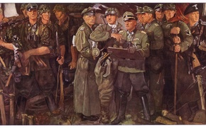 Picture Figure, The Germans, MG 42, MP 40