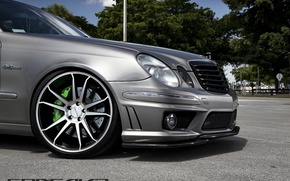 Picture machine, auto, lights, Mercedes Benz, bumper, auto, Black, Matte, Wheels, Concave, CW-S5, E-500