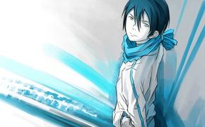 Picture sword, anime, art, God, Noragami, Yato
