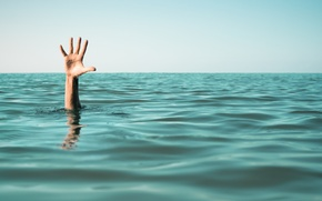 Picture hand, help, problems, drown