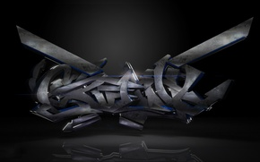Wallpaper Creative, Dark, Graffiti