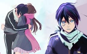 Picture anime, art, Of inori, Noragami, A homeless God, Yato