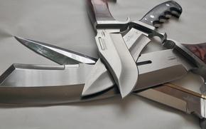 Wallpaper cold, swords, knives, steel
