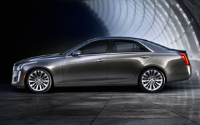 Picture Cadillac, view, CTS, side, Cadillac