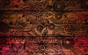Picture leaves, flowers, background, tree, patterns, figure, texture, petals, characters, beautiful