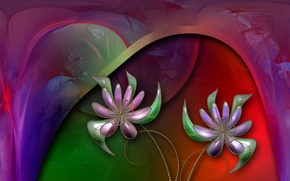Picture flowers, abstraction, color, form