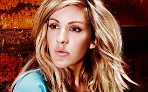 Picture look, girl, face, makeup, blonde, singer, Ellie Goulding, Ellie Goulding