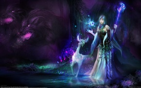 Picture girl, magic, being, art, Huang Tea