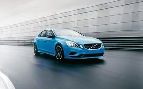 Picture blue, Volvo, Volvo, sedan, blue, S60, C60, Polestar