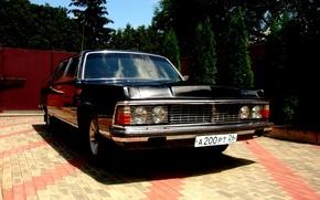 Picture retro, Seagull, car, limousine, Gas, Gas 14, USSR
