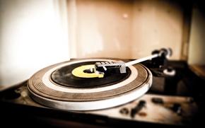 Picture music, player, vinyl, analog world