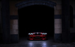Picture shadow, garage, BMW, before, red