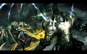 Picture Diablo 3, demon hunter, crusader, The enchantress