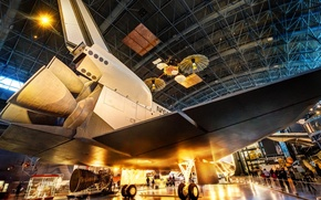 Picture space, hangar, Shuttle, Museum, space shuttle