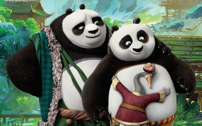 Picture cinema, animation, bear, man, movie, funny, asian, bamboo, film, pictures, decoration, action, warrior, Kung Fu …