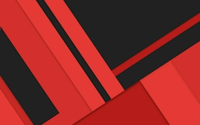 Picture line, red, abstraction, black, geometry, design, color, material