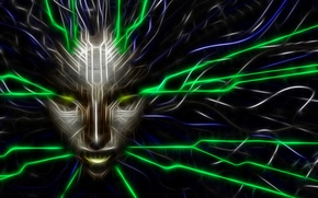 Picture game, SHODAN, art, face, system shock