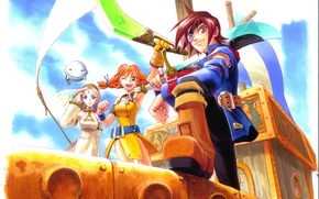 Picture SEGA, Dreamcast, Fina, Skies Of Arcadia, Time, Vyse