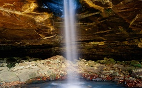 Picture rock, stones, waterfall, cave, USA, Arkansas