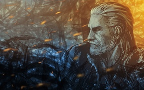 Picture art, the Witcher, art, rpg, Geralt, geralt, the wild hunt, wild hunt, the witcher 3, …