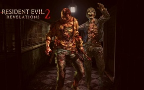 Picture zombie, blood, game, undead, man, saw, cell, death, Capcom, evil, darkness, Biohazard, Resident Evil Revelations, …