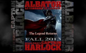 Picture Space Pirate, captain Harlock, Space pirate, Captain Harlock