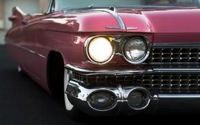 Picture retro, lights, convertible, 1959, Cadillac Convertible