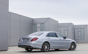 Picture grey, Mercedes-Benz, sedan, AMG, S 63