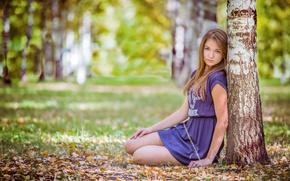 Picture autumn, tree, legs, Nastya